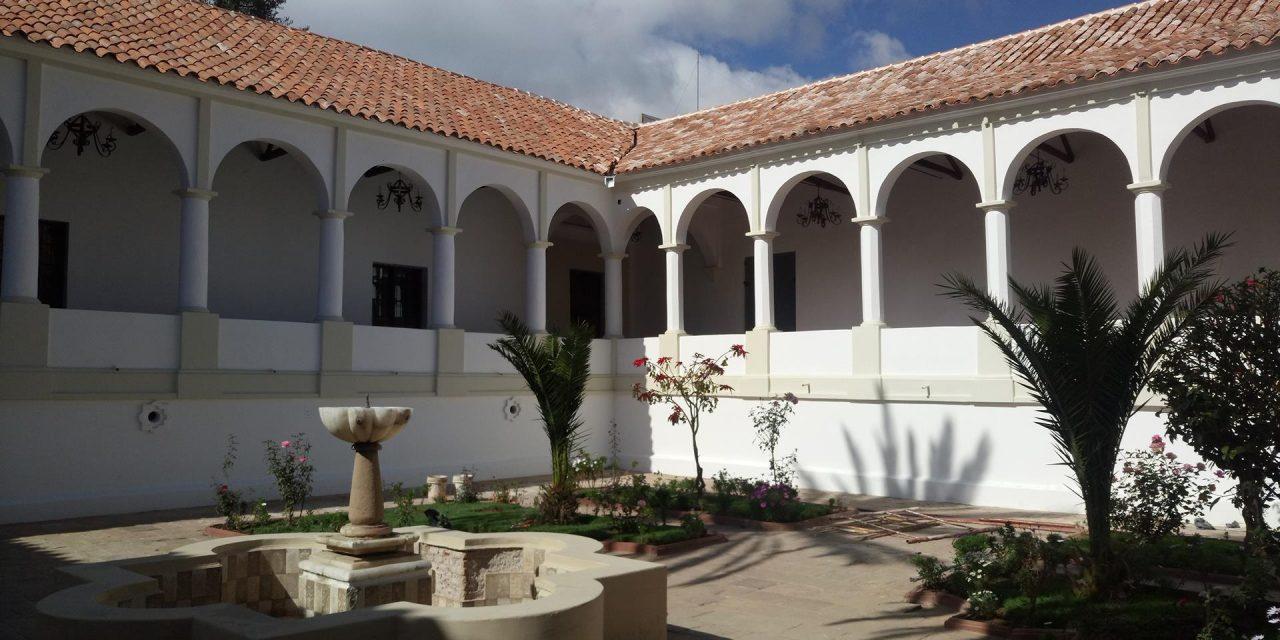 Universidad de San Francisco Xavier ENTREGA LAS OBRAS DE RESTAURACIÓN  Y REFUNCIONALIZACIÓN  DEL MUSEO COLONIAL CHARCAS