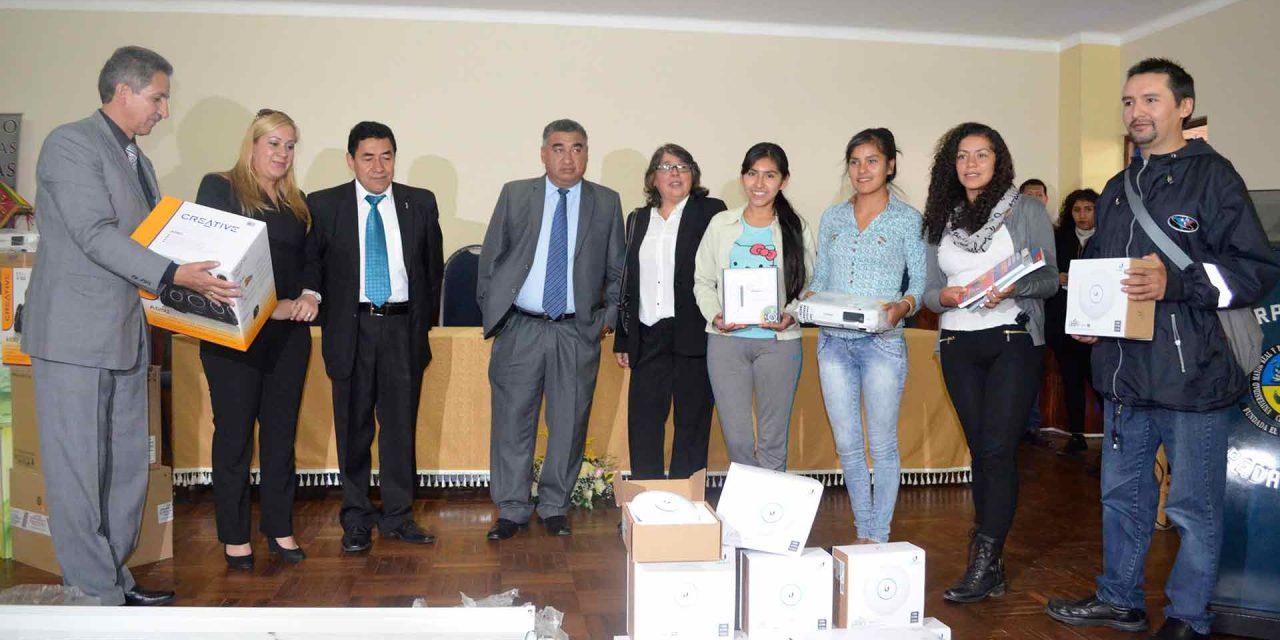 La Universidad  entregó EQUIPAMIENTO A PEDAGOGÍA