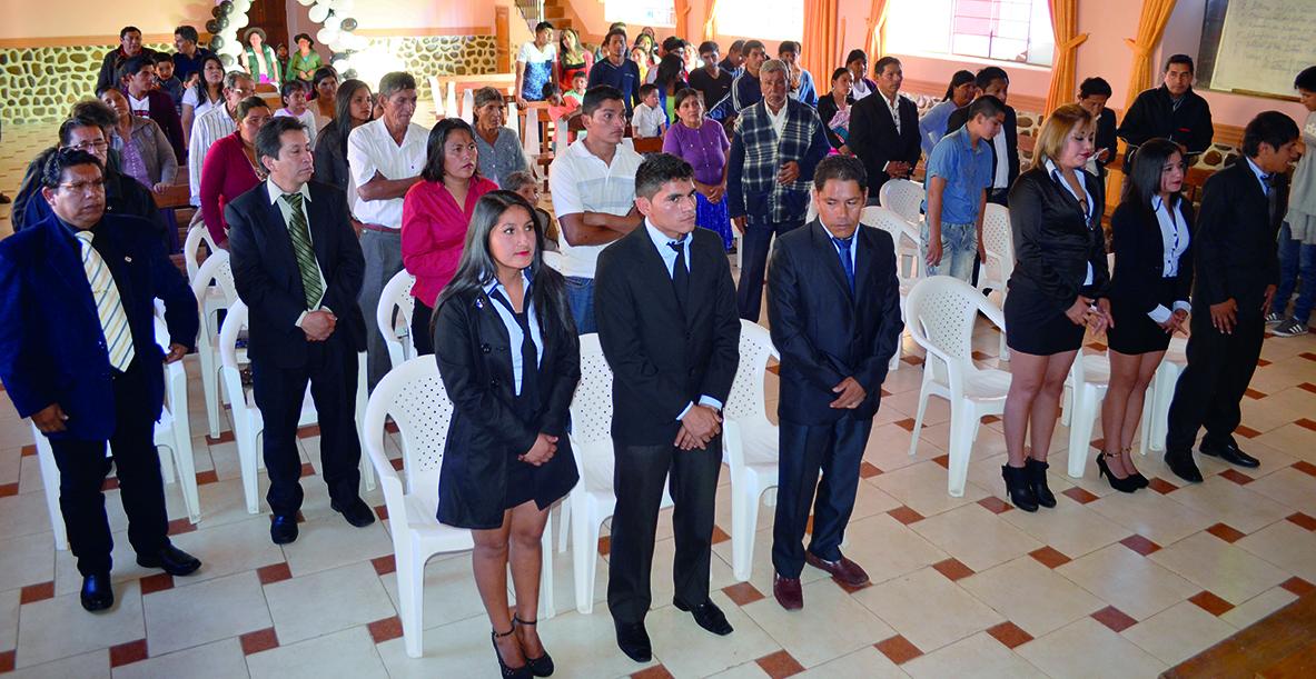 Acto de graduación de la primera promoción  CONSTRUCCIÓN CIVIL T. S. EN SOPACHUY